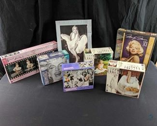 Marilyn Monroe collectible Jigsaw puzzle collection of 7