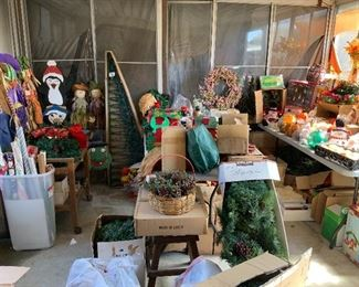 Holiday decorations. Fall and Halloween decorations. Christmas decorations