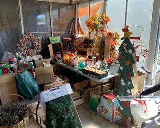 Christmas and Halloween decorations. Holiday decor