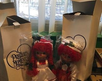 Dolls. Precious moments dolls. Raggedy Anne and Andy