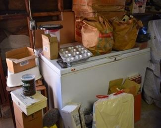 large deep freezer in working condition