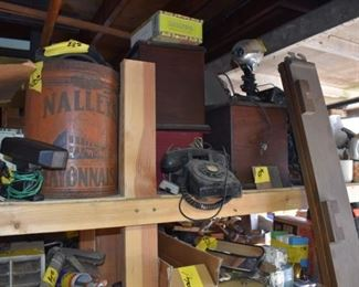 antique radios and electrical devices