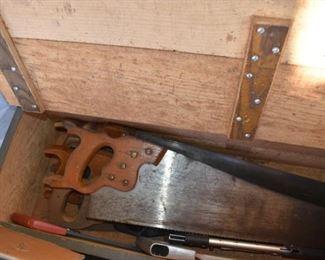 Antique Disston hand saws
