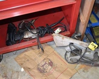 lots of newer and vintage power tools