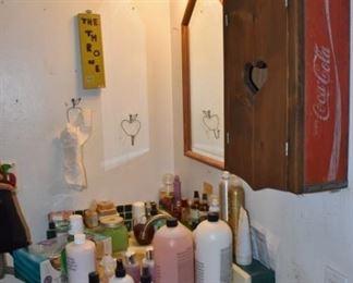 vintage Coca-Cola crate converted into medicine cabinet