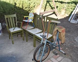 100+ year old dining chairs