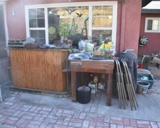 tiki bar and workbench