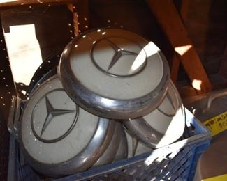 hub caps for vintage Mercedes with outer rings (not shown)