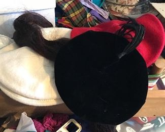 Vintage hats and clothes