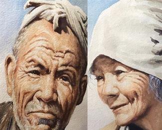 Vintage Japanese Watercolor Portraits by Bizan https://ctbids.com/#!/description/share/235953