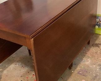 Mahogany drop leaf table $100
