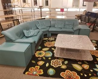 Sectional....rug....and table