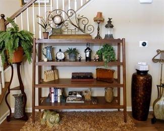 Home Decor & Large 4-Tier Shelving Unit