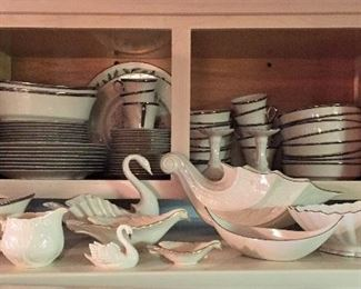 Lenox (Solitaire pattern) service for 8 with extras