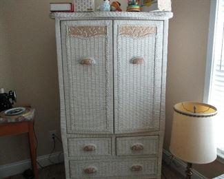 Wicker armoire