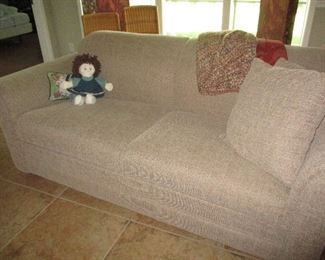 Sealy sleeper sofa with matching loveseat