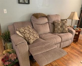 Double recliner electric sofa