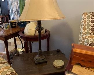 In table and lamps
