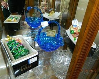 Fenton glass/Radko ornaments