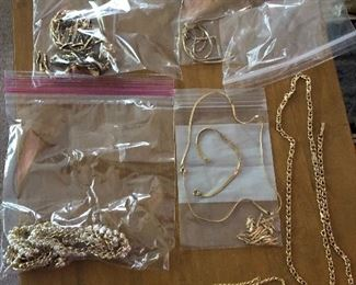 Gold jewelry sets necklaces with bracelets