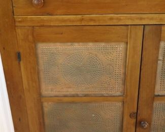 details of the antique pie safe