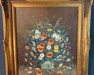 Signed Oil Painting with gorgeous frame!