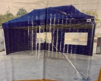 10 x 20 Pop up tent with walls.  Only used once!!