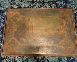 Turn of the Century hand painted coffee table