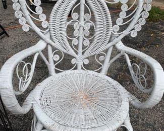 Wicker Thrown Chair
