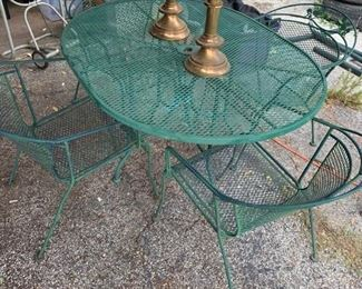Wrought Iron Patio Set...We have an oval and circular set !!