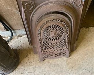 Cast iron fireplace covers
