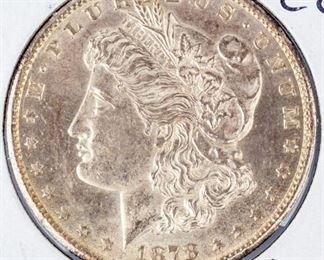 Lot 400 - Coin 1878-CC Morgan Silver Dollar Gem B.U