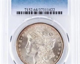 Lot 36 - Coin 1884-CC Morgan Silver Dollar PCGS MS64