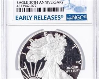 Lot 354 - Coin 2016-W American Silver Eagle NGC PF70