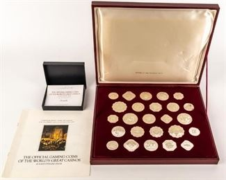Lot 139 - Franklin Mint Collection Of Sterling Casino Tokens