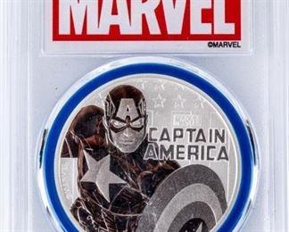 Lot 123 - Coin 2019 Captain America $1 .999 Silver MS69