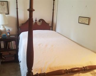 Pair of vintage poster twin beds