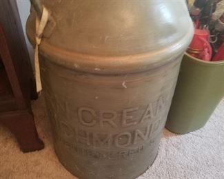 Vintage metal advertising crock