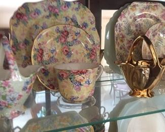 More Chintz-3-piece tea sets