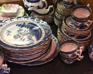 Booth's Real Old  Willow set of china-lovely conditions