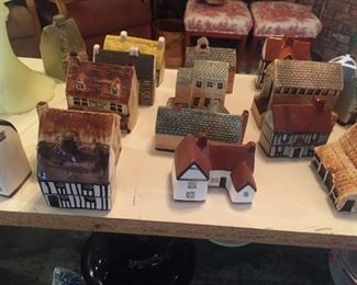 English pottery cottages