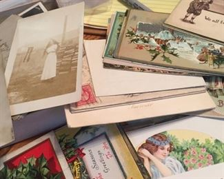 lots of old post cards-some local-many stillblank