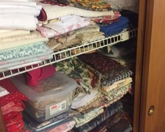 Fabric!!!!!!-priced at register $1-$10--a few higher-some new, some vintage--used for quilting