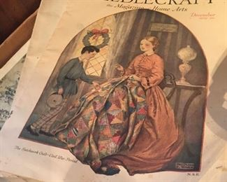 old magazines on sewing and wifery