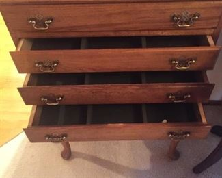 Silverware chest-felt lined-nice!