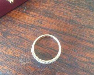 now for the jewelry-14K ring-pavé diamonds--size 6.5