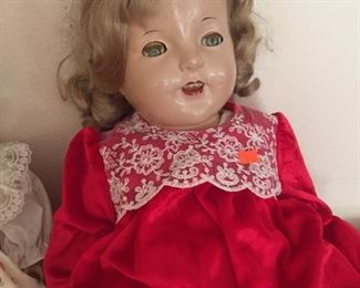 One of two Shirley Temples-dolls just crawled out of back closet=creepy