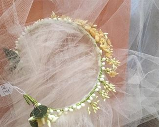 fabulous wax flower veil