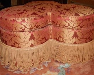 Trefoil ottoman by Edward Ferrell $450
