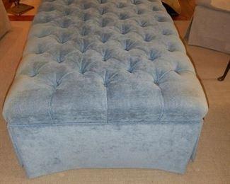 Blue Ottoman $195